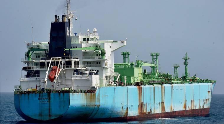 M T BW Maple anchored at Chennai coast